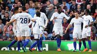 Para pemain Chelsea merayakan gol ke gawang Burnley. (doc. Chelsea FC)