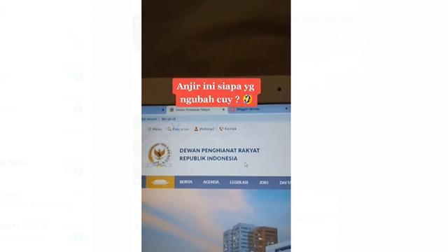 Situs Dpr Diretas Jadi Dewan Penghianat Rakyat Simak Faktanya Cek Fakta Liputan6 Com