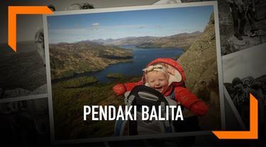 Seorang bayi berusia lima bulan telah mendaki 13 gunung dan bukit di Skotlandia. Kegiatan tersebut tidak ia lakukan sendiri melainkan bersama kedua orangtuanya.