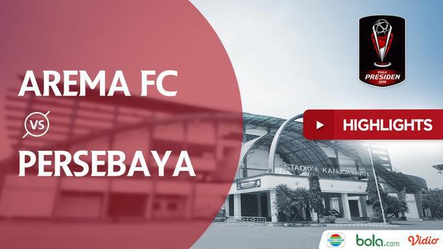 Berita video highlights final leg kedua Piala Presiden 2019 antara Arema FC menghadapi Persebaya yang berakhir dengan skor 2-0. Arema keluar sebagai juara berkat agregat 4-2.