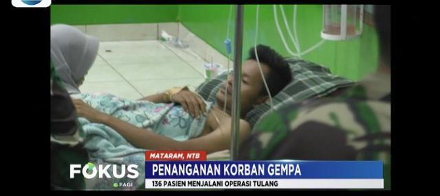 Menteri Kesehatan Nila F. Moeloek pastikan penangaman medis korban gempa di Lombok, Nusa Tenggara Barat, sudah berjalan baik.