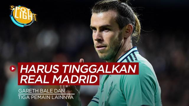 Berita video spotlight kali ini membahas tentang empat pemain yang sebaiknya hengkang dari Real Madrid, salah satunya Gareth Bale.
