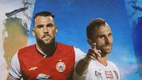 Liga 1 - Marco Simic dan Ilija Spasojevic (Bola.com/Adreanus Titus)