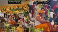 Viral Aksi Pengantin Pria Tetap Bekerja di Hari Pernikahan, Sibuk dengan Laptopnya (Sumber: Instagram