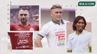Marko Simic, Cristian Gonzales dan Budi Sudarsono. (Bola.com/Dody Iryawan)