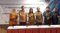 PT Perikanan Nusantara (Persero) atau Perinus dan Pemerintah Kabupaten Kepulauan Talaud Provinsi Sulawesi Utara, Senin (13/8/2018).