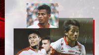 Zulfiandi, Bayu Gatra dan Fachrudin Aryanto. (Bola.com/Dody Iryawan)