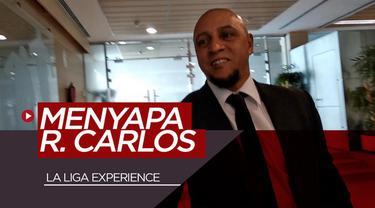 Berita video vlog Bola.com kali ini bertamu ke kandang Real Madrid, Santiago Bernabeu, dan sempat menyapa legenda Los Blancos, Roberto Carlos.