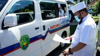 Pemerintah Kota Bengkulu menyiapkan Ambulans gratis selama 24 jam untuk melayani warga Kota Bengkulu. (Liputan6.com/Yuliardi Hardjo)