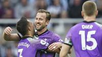Gol kemenangan Tottenham disarangkan oleh Tanguy Ndombele, Harry Kane dan Son Heung-min. (AP/Jon Super)