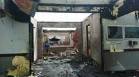 Kondisi terkini Rutan Siak, Riau, setelah dibakar oleh ratusan tahanan. (Liputan6.com/M Syukur)