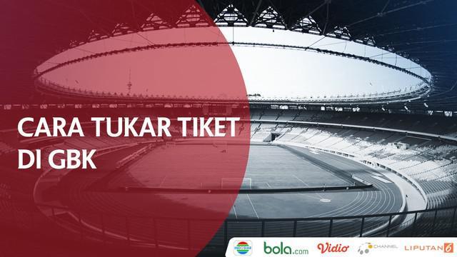Berita video laporan vlog Bola.com cara menukarkan tiket masuk menonton Final Piala Presiden 2018, Persija Jakarta vs Bali United, di Stadion Utama Gelora Bung Karno, Sabtu (17/2/2018).