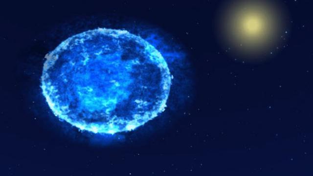 Bintang berbentuk telur (upr.org)