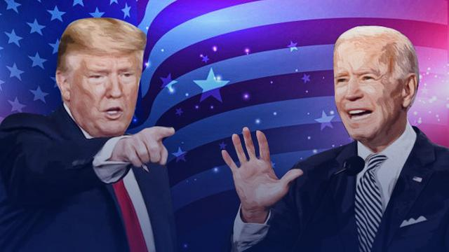 Ilustrasi Pilpres AS, Donald Trump Vs Joe Biden. (Liputan6.com/Trie Yasni)