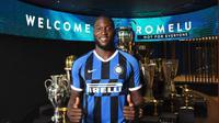 Inter Milan resmi mengumumkan pembelian Romelu Lukaku dari Manchester United. Doc: Inter Milan