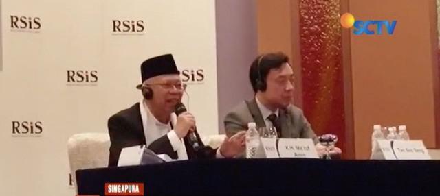 Ma'ruf Amin jadi dosen tamu di Rajaratnam School Of International Studies Nanyang Technology University, Singapura.