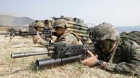 Latihan gabungan tentara Korea Selatan dan Amerika Serikat (AP PHOTO)