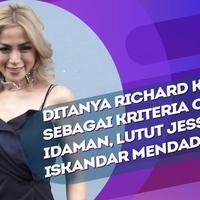Reaksi Jessica Iskandar saat ditanya Richard Kyle sebagai kriteria cowok idaman.