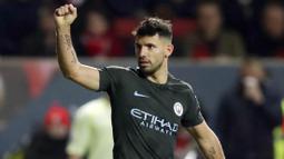 1. Sergio Aguero (Manchester City) - 19 Gol (2 Penalti). (AP/Nick Potts)