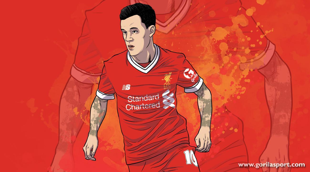 Philippe Coutinho saat masih berseragam Liverpool. GORILASPORT