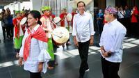 Jokowi didampingi Iriana mengunjungi Banyuwangi.