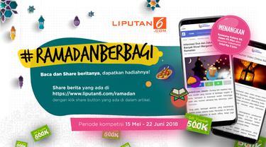 Menyemarakkan Bulan Suci Ramadan 2018, Liputan6.com ingin berbagi hadiah dengan menggelar #RamadanBerbagi. (Liputan6.com)