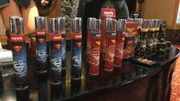Ada karakter Batman, Superman, hingga Wonder Woman di parfum Morris. (Liputan6.com/Putu Elmira)