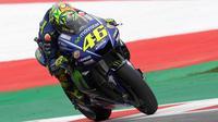 Pebalap Movistar Yamaha, Valentino Rossi, berencana memakai fairing pada balapan MotoGP Austria di Sirkuit Red Bull Ring, Minggu (13/8/2017). (Yamaha MotoGP)