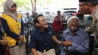 Direktur Utama BPJS Kesehatan Fachmi Idris didampingi  Deputi Direksi BPJS Kesehatan Wilayah Sumatera Utara dan Aceh mengunjungi pelayanan kesehatan peserta JKN-KIS di RSUD Cut Nyak Dhien di Meulaboh, Kabupaten Aceh Barat, Kamis (13/2/2020). (Dok Humas BPJS Kesehatan)