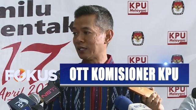 Kedatangan pimpinan KPU diterima oleh salah seorang pimpinan KPK.