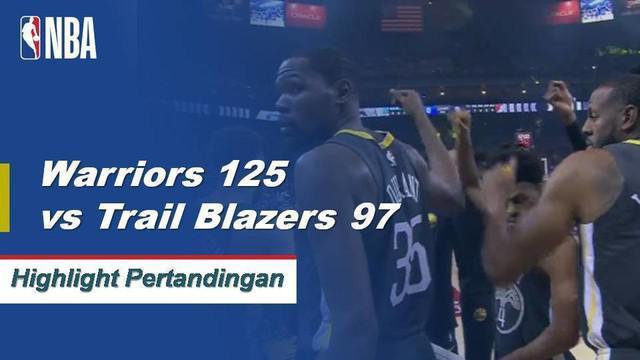 Kevin Durant dan Klay Thompson bergabung untuk 63 poin saat Warriors merebut empat kekalahan beruntun mereka dengan meniup Trail-Blazers, 125-97.