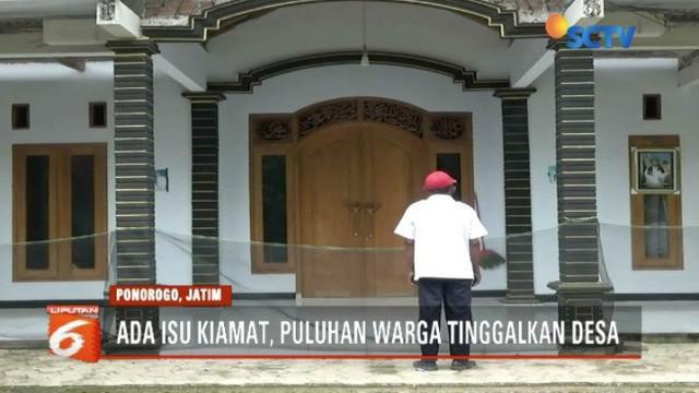 Puluhan jamaah  Thoriqoh Akmaliyah Ash-Sholihiyah di Ponorogo, Jawa Timur, berbondong-bondong hijrah ke Malang diduga terhasut isu kiamat.