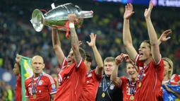 Mario Mandzukic. Bersama Bayern Munchen berhasil mengalahkan Borussia Dortmund 2-1 dalam partai final Liga Champions 2012/2013 di Wembley Stadium, London, 25 Mei 2013. (AFP/Patrik Stollarz)