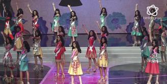 Meriah dan mewah, ini suasana malam puncak Puteri Indonesia 2018.