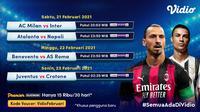 Pertandingan Liga Italia Serie A pekan ke-23 dapat disaksikan melalui platform Vidio. (Dok. Vidio)
