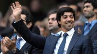 Pemilik Manchester City asal Uni Emirat Arab, Sheikh Mansour. (AFP/Andrew Yates)
