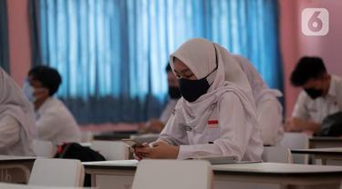 FOTO: Uji Coba Pembelajaran Tatap Muka di Tangerang