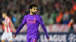 2. Mohamed Salah (Liverpool) - 10 Gol. (AFP/Andrej Isakovic)