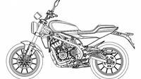 Desain Harley-Davidson 338R yang terlihat pada lembaga Administrasi Kekayaan Intelektual Nasional Cina. (Motorcycle.com)
