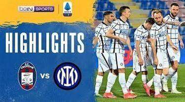 Berita Video Highlights Liga Italia, Inter Milan Raih Kemenangan di Kandang Crotone 2-0 Sabtu, (1/5/2021)