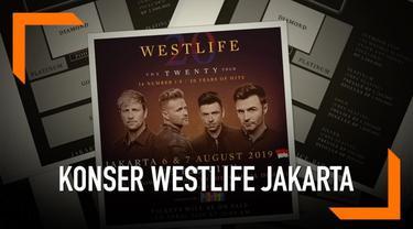 Konser Westlife di Indonesia resmi ditambah satu hari. Tiket tambahan akan dijual pada 2 April 2019.
