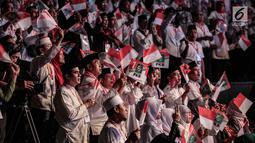 Kader PKB menghadiri konsolidasi caleg PKB Pemilu 2019 sekaligus haul Abdurrahman Wahid, Gus Dur di Jakarta, Senin (17/12). Jokowi meminta caleg dari PKB  untuk mencegah isu-isu hoax dalam  meningkatkan elektabilitas partai. (Liputan6.com/Faizal Fanani)
