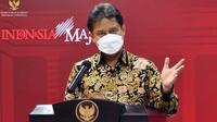 Menteri Kesehatan RI Budi Gunadi Sadikin memberikan keterangan pers usai Rapat Terbatas mengenai Penanganan Pandemi COVID-19 di Kantor Presiden, Jakarta, Senin (26/4/2021). (Biro Pers Sekretariat Presiden)