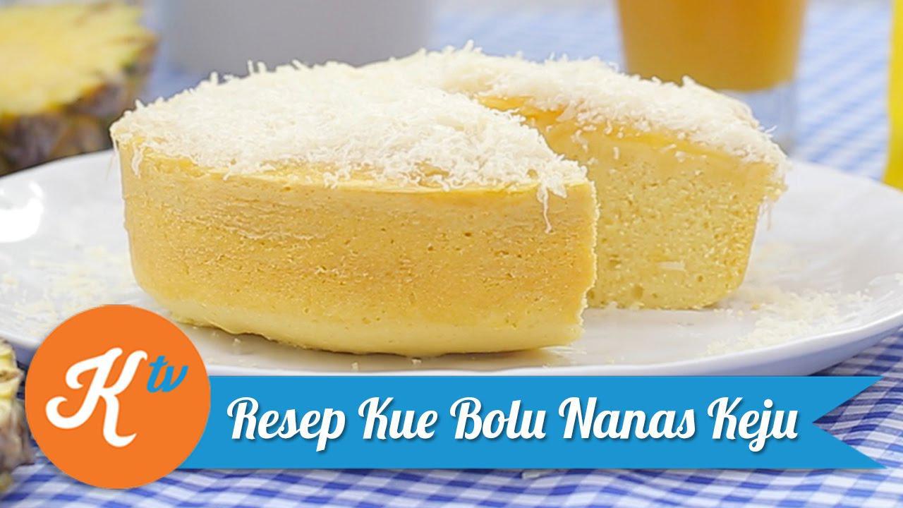 Ternyata, buah nanas tak hanya dapat diolah menjadi kue nastar. Namun, juga dapat diolah menjadi kue bolu. Intip resepnya berikut ini. (Foto: Kokiku Tv)