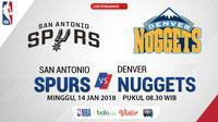 San Antonio Spurs Vs Denver Nuggets_2 (Bola.com/Adreanus Titus)