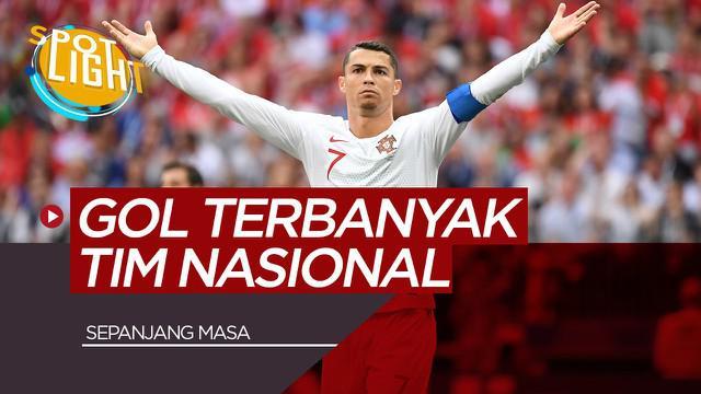 Berita Video Spotlight Cristiano ronaldo dan 3 pemain dengan gol terbanyak di Tim Nasional