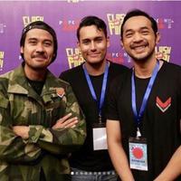 Chicco Jerikho, Arifin Putra dan Oka Antara, pemain film Foxtrot Six. foto: Instagram (@foxtrotsixmovie)
