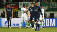 Toni Kroos dan Cristiano Ronaldo dalam perempat final Liga Champions 2015/2016. Reuters / Kai Pfaffenbach Livepic