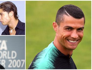 FOTO: Metamorfosis Gaya Rambut Cristiano Ronaldo dari Masa ke Masa