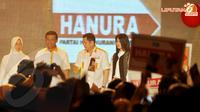Ketua Umum Hanura Wiranto menegaskan, pencapresan dirinya yang berpasangan dengan Hary Tanoe itu tidak berdasarkan survei yang bermacam-macam hasilnya.(Liputan6.com/Abdul Aziz Prastowo)